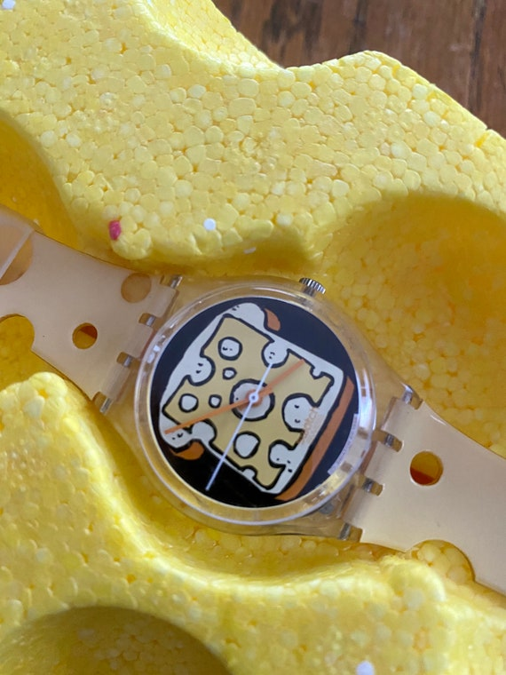 1999 Swatch watch cheesy toast special packaging V