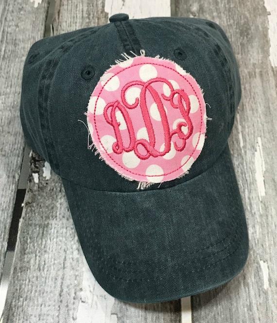 Monogrammed Baseball Hat Womens Hat Monogrammed Hat  ffadf6526f3