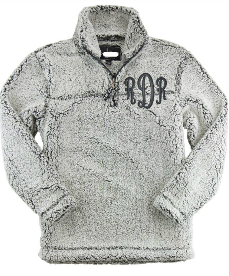 68d15d21f76 Monogram Sherpa Pullover Monogram Fleece Sherpa Sherpa