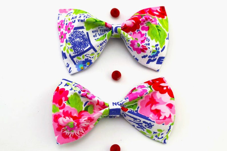 Cotton Hair Bow For Girl Birthday Gift Handmade French Etsy