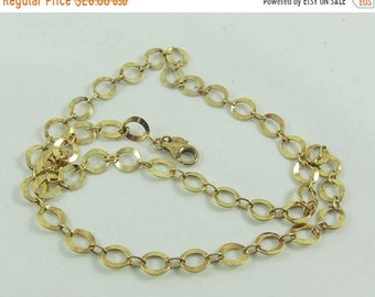15% OFF Gold over Sterling Silver Oval Links Necklace- Made in Italy