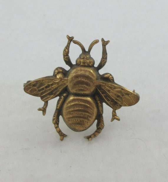 Joseff of Hollywood Gold Tone Insect Bee Brooch