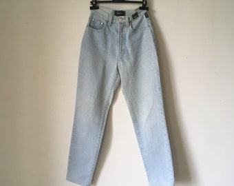 72f7b2ab4cc04 vintage VERSACE Jeans Couture • denim High waist denim • Medusa head tag •  Made in Italy • mom fit • xs Small