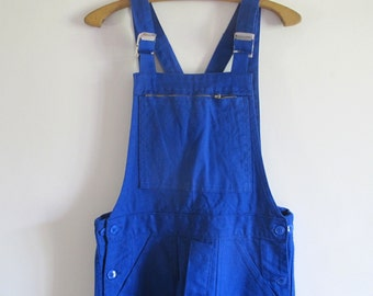 Deadstock French Workwear overalls Blue cotton sanforized dungarees // new from old stock