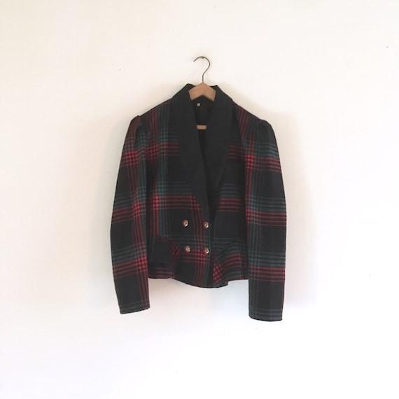 Vintage 80s Tartan blazer