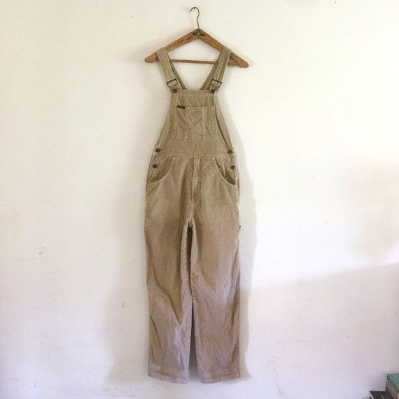 Wrangler vintage tan corduroy overalls jumpsuit ov