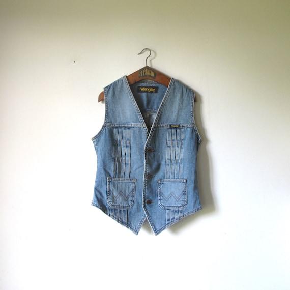 Vintage WRANGLER Denim Jeans Vest western