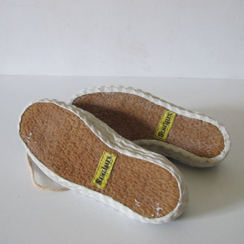 Vintage 1950s French Kid child shoe cotton Canvas sneakers trainers \u2022 deadstock