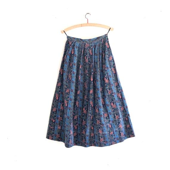 Laura Ashley vintage corduroy floral skirt