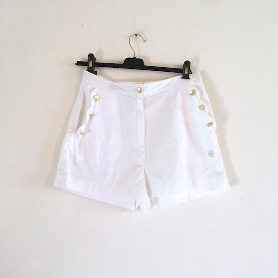 Valentino vintage white cotton shorts