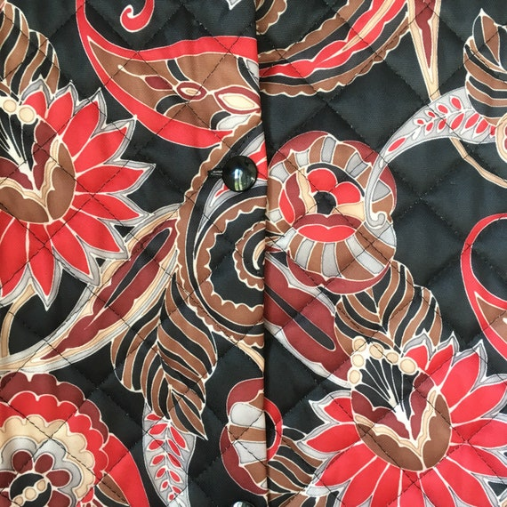 Vintage quilted floral paisley housecoat • dressi… - image 7