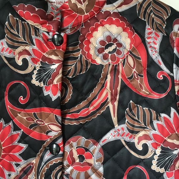 Vintage quilted floral paisley housecoat • dressi… - image 9