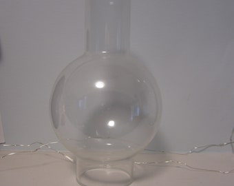 """Single glass hurricane, clear glass, 8.5"""" tall, replacement hurricane chimney, lamp cover"""