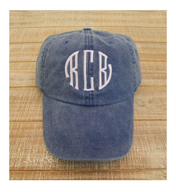 Monogram Hat | Personalized with Seal Circle Style