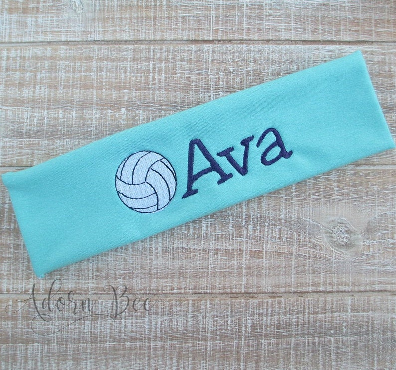 Volleyball Personalized Headband  Custom Embroidered Sports image 0