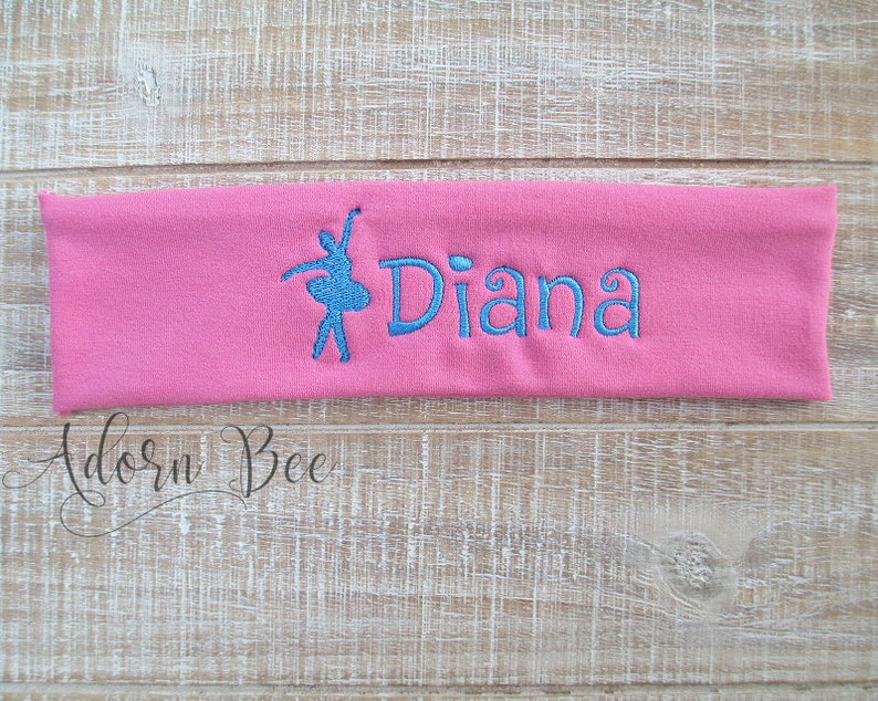 Dancer Ballet Personalized Headband  Custom Embroidered image 0