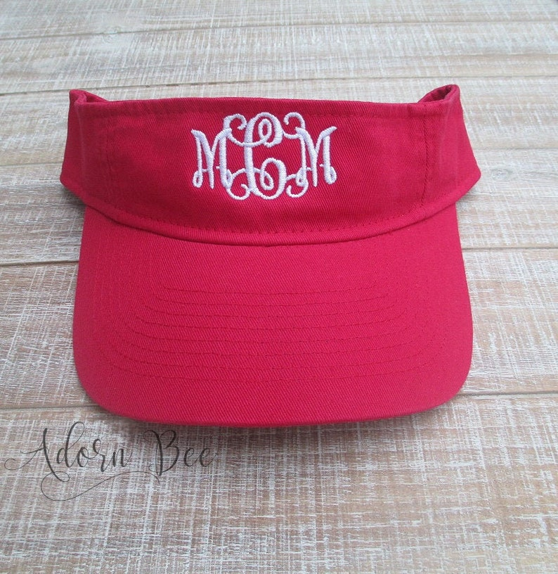 Monogram Visor with Vine Style Embroidered Initials  image 0