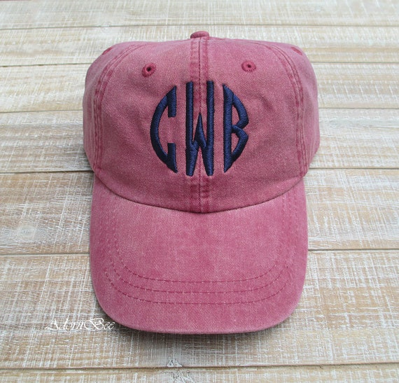 Monogram Hat | Personalized with Embroidered Circle Block