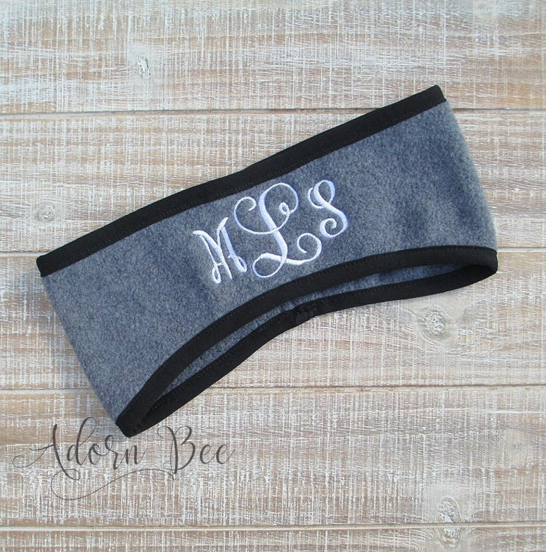 Personalized Fleece Headband with Personalized Embroidered image 0