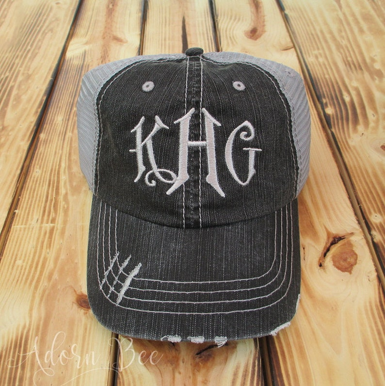 Personalized Distressed Trucker Hat with Carson Style image 0
