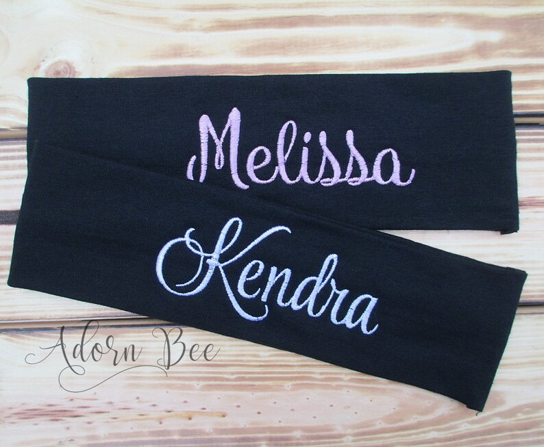 Personalized Name Headband  Custom Embroidered Headband  image 0