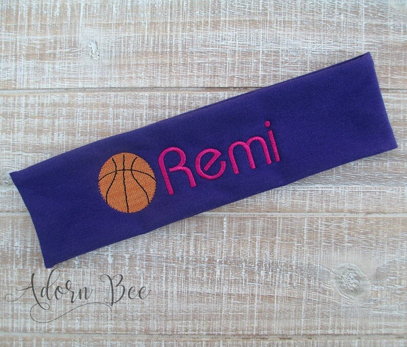 Basketball Personalized Headband  Custom Embroidered Sports image 0