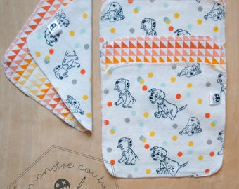 Set of 5 Washcloths - 101 Dalmatians