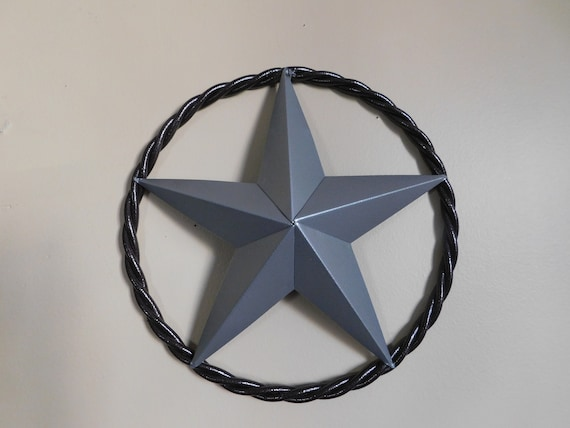 1c5e0d62e7 Star with rope wall decor Texas star bronze and silver metal | Etsy