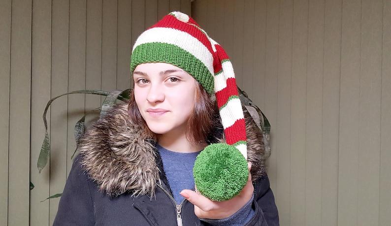 b55fb4b2305 Free shipping Christmas Newborn to Adult Long Tail Elf Hat