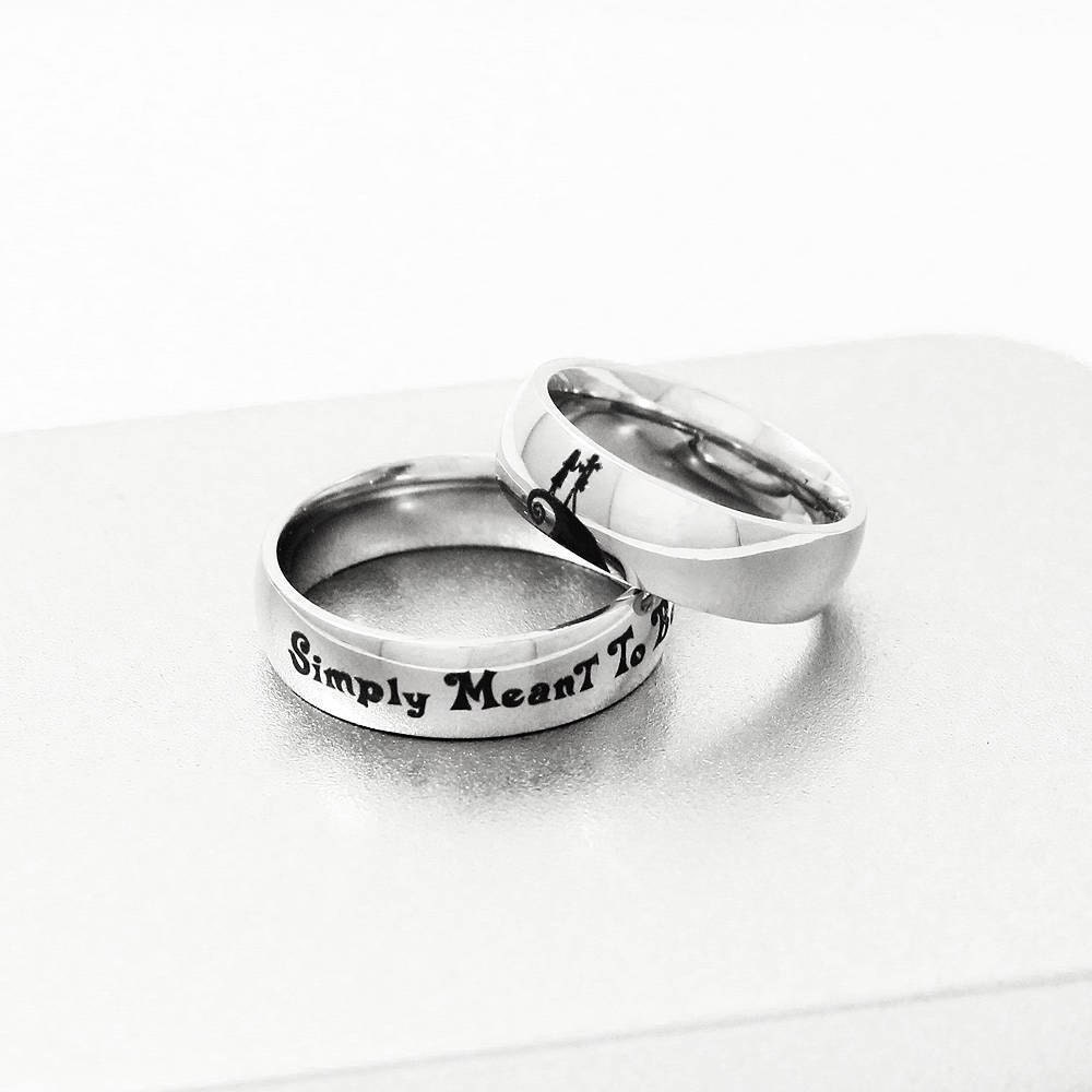 Jack & Sally Engagement Ring Simply Meant to Be Ring Couple   Etsy
