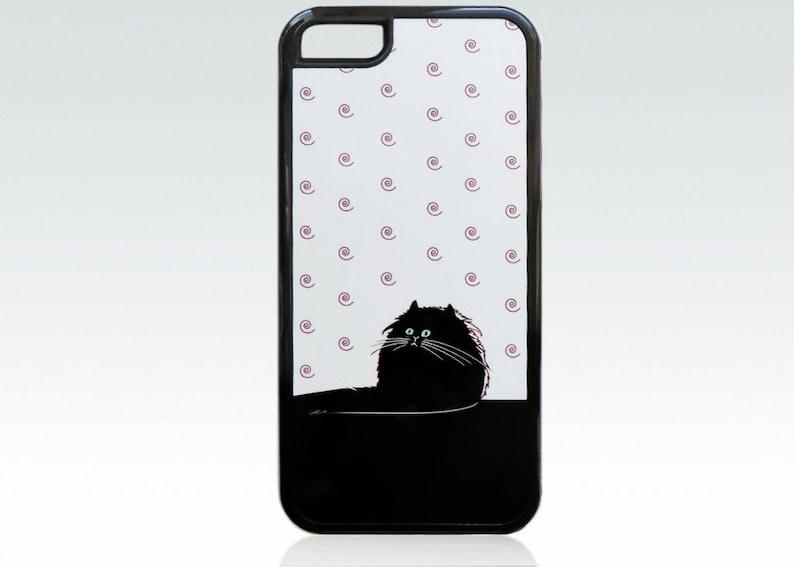 Cover Iphone 5c Caso Di Iphone 5c Gatto Divertente Cover Etsy