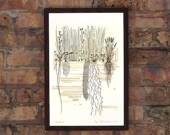 Prairieland - Limited Edition Letterpress Print