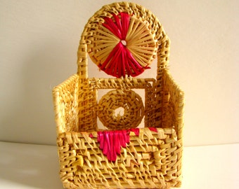 50% OFF-Mobile Holder (2 Color Choices) Handmade Golden Grass Craft of Odisha in East India