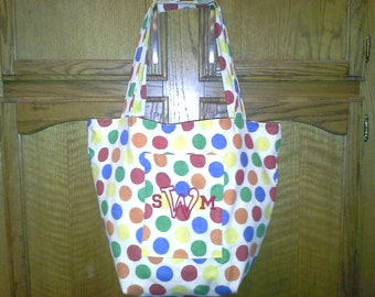 Beach/pool monogrammed tote bag.