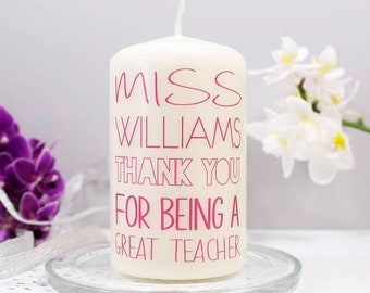Thank You Candle - Thank You Candle For Teachers - Teaching Assistant Gift - Teacher Gift - Teacher Thank You Gift