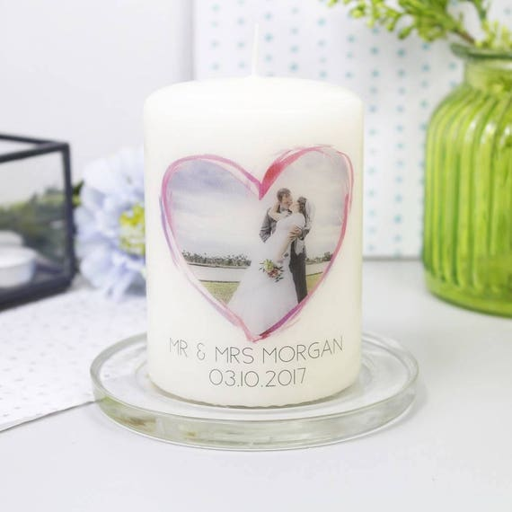 Wedding Anniversary Gift Wedding Candle Photo Candle Etsy
