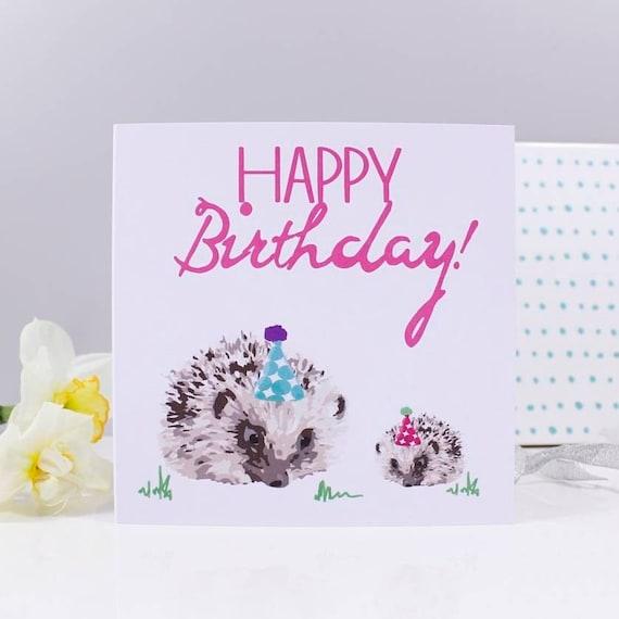 Igel Geburtstag Karte Igel-Karte Geburtstagskarte für sie   Etsy