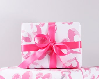 Heart Pattern Recycled Wrapping Paper