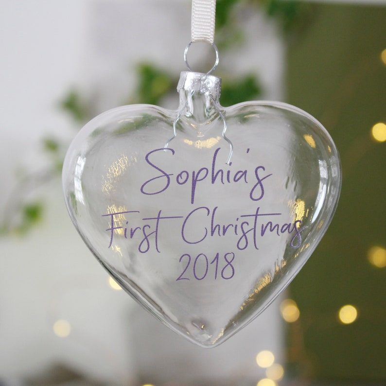 2018 Bauble 1st Christmas Heart Bauble First Christmas Bauble Personalised Bauble First Christmas Bauble Babies 1st Christmas Gift