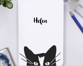 Cat Notebook - Cat Notebook for her - Travel Journal for her - Personalised Notebook - Cat Birthday Gift For her - Kitten Teenage gift