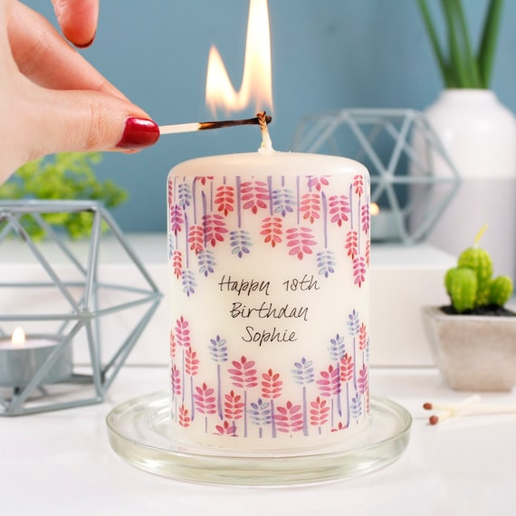 Birthday Candle Gift Personalised 18th