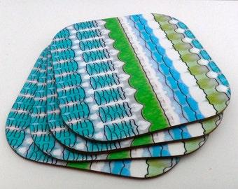 Simple Pattern Coasters SALE WAS 13.00