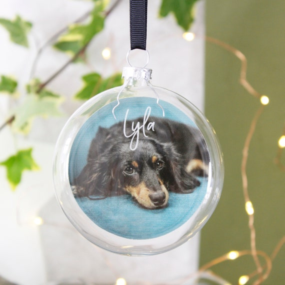 Christmas Bauble Cat.photo Bauble Dog Bauble. Baby Dog Personalised Bauble