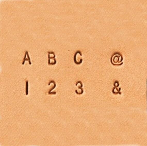 Alphabet Numbers Ampersand Symbol Leather Stamp Set 3mm