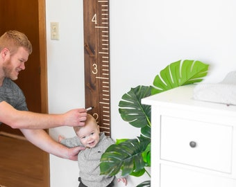 Giant Measuring Stick Growth Chart- Walnut Family Height Chart- Engraved- Baby Christmas Gift- Personalized Family Gift