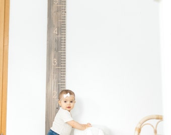 Engraved Growth Chart- Weathered Wood Oversized Wooden Ruler- Family Height Chart- Baby Measuring Stick Growth Chart Ruler-Milestone Memento