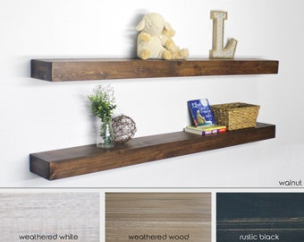 Exceptionnel EXTRA LONG, Extra Deep Floating Shelf, Wooden Shelf, Rustic Shelf, Nursery  Shelf, Kitchen Shelf, Chunky Shelf, Fixerupper Shelf