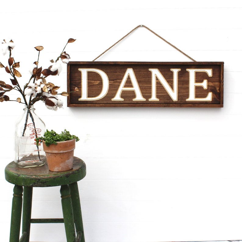 Last Name Sign  Wood Sign  Family Name Sign  Name Sign  image 0