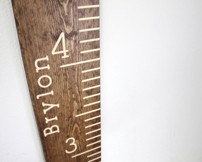 Personalized Engraved Growth Chart Wood Growth Chart Ruler image 0
