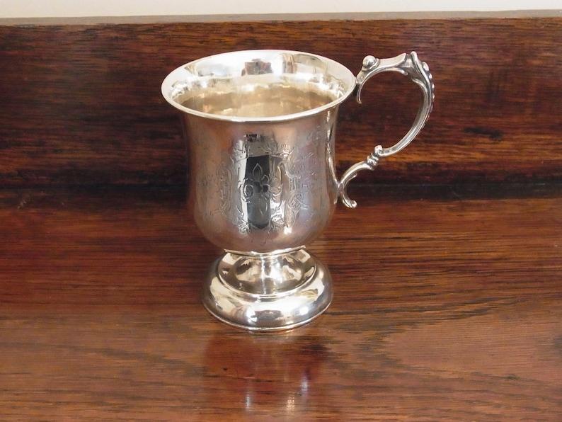 331ec58b2da0 Antique Silver Baby Cup Engraved  J Arthur Eric Hyde Born